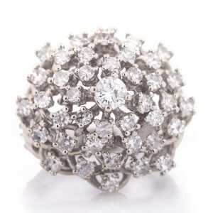 diamond antique ring