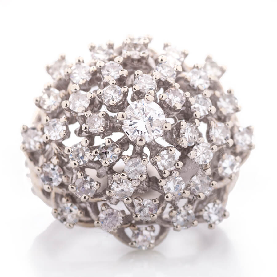 diamond cluster estate jewelry