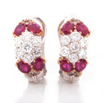 ruby diam earrings